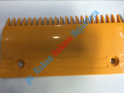 Comb 22 Teeth, Middle, Yellow (0129CAD001) FUJITEC